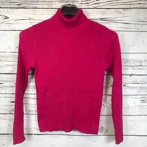 Kim Rogers Classic Turtleneck Sweater Pink M